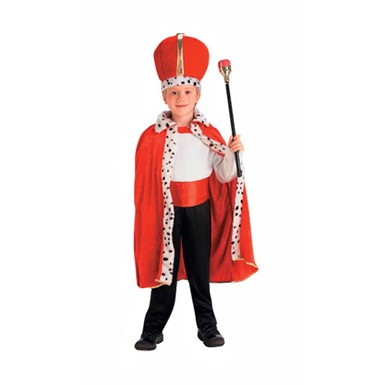 King Red Robe and Crown Set for Kids Halloween Costume