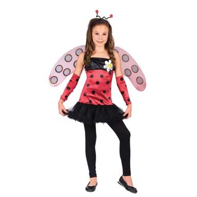 lovely lady bug ballerina girl kids halloween costume