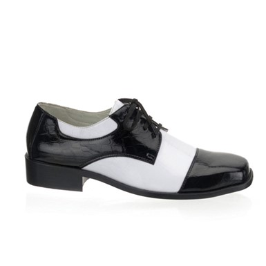 Mens 50's Black & White Gangster Halloween Shoes