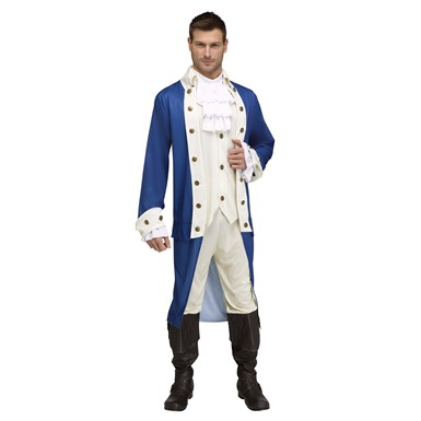 Mens Alexander Hamilton Uniform Adult Halloween Costume
