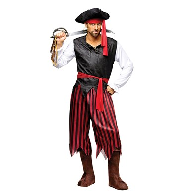 Mens Caribbean Pirate Halloween Costume Size Standard