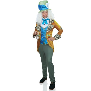 Mens Classic Mad Hatter Alice in Wonderland Costume