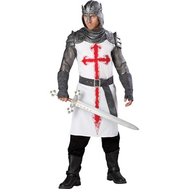 Mens Crusader Knight Medieval Halloween Costume