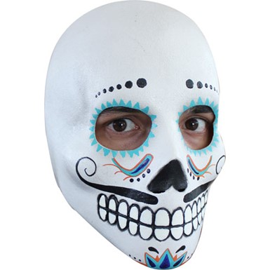 Mens Day of the Dead Dia De Los Muertos Mask