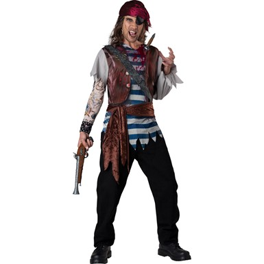 Mens Dead Man Pirate Halloween Costume