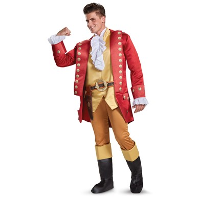 Mens Deluxe Gaston Beauty & the Beast Costume