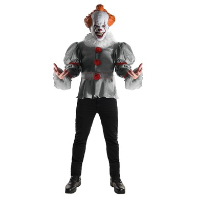 Mens Deluxe It Pennywise Clown Halloween Costume
