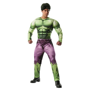 Mens Deluxe The Hulk Muscle Chest Halloween Costume