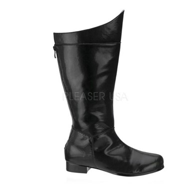 Mens Superhero Black Halloween Boots