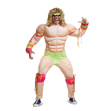 Mens WWE Ultimate Warrior Muscle Wrestler Costume