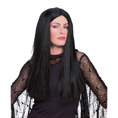 Morticia Addams Adult Wig for Halloween Costume