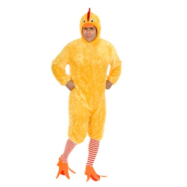 Plus Size Chicken Suit Mens Animal Halloween Costume