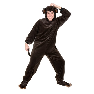 Plus Size Chimpanzee Mens Animal Halloween Costume