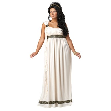 Plus Size Olympic Goddess Adult Womens Halloween Costume