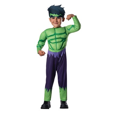 Toddler Hulk Muscle Halloween Costume Size 2T-4T