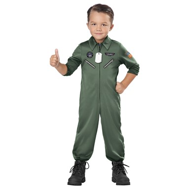 Toddler Jr. Jet Pilot Top Gun Costume