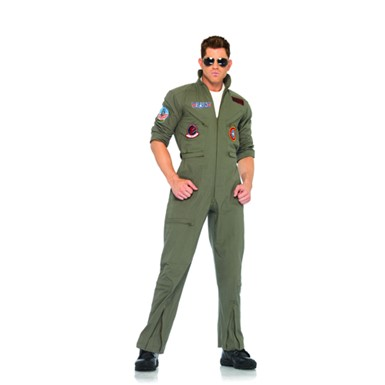 Top Gun Outfit Flight Suit Mens Halloween Costume