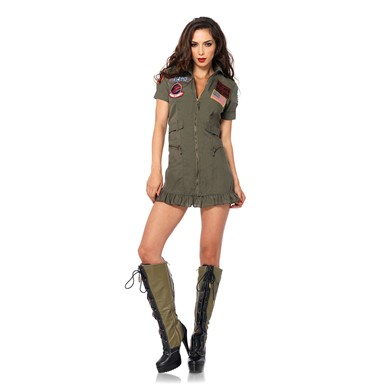 Top Gun Womens Flight Dress Halloween Costume