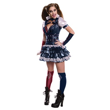 Womens Batman Arkham Harley Quinn Halloween Costume