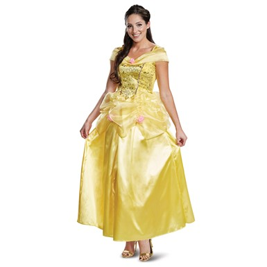 Womens Belle Deluxe Disney Princess Classic Adult Costume