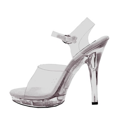 Womens Brook Clear Heel Shoes Footwear Accessory
