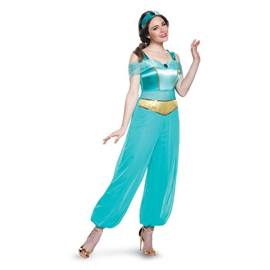 Womens Deluxe Jasmine Disney Princess Costume