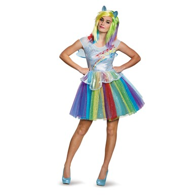 Womens Deluxe Rainbow Dash Halloween Costume