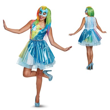 Womens Deluxe Rainbow Dash Movie My Little Pony Costume