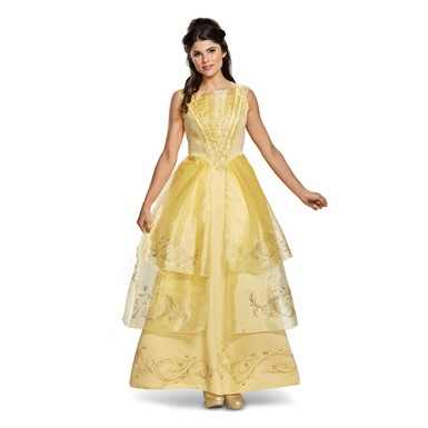 Womens Disney Belle Ball Gown Deluxe Costume
