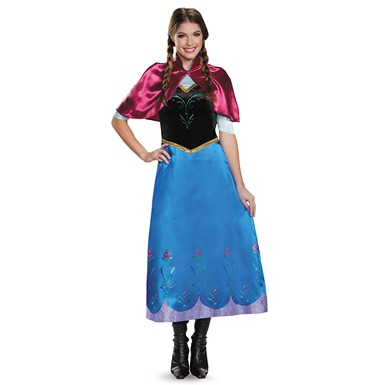 Womens Frozen Traveling Anna Deluxe Costume