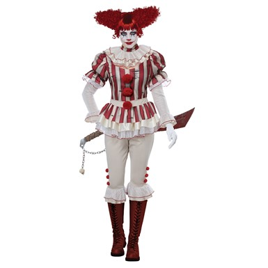 Womens Sadistic Clown Halloween Costume