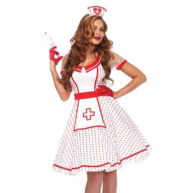 Womens Sexy Bedside Betty Nurse Costume